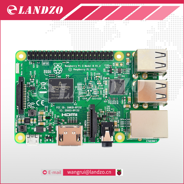 Element14 Version 2016 New Raspberry Pi 3 Model B font b Board b font 1GB LPDDR2