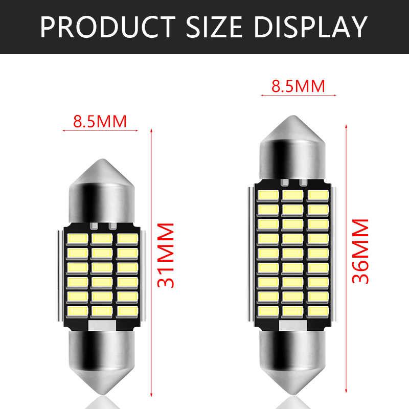 1 pièces lumière intérieure de voiture 31mm 36mm 39mm 41mm SMD ampoule LED C10W C5W Festoon miroir dôme lecture porte numéro lampe pour bmw audi 12 v