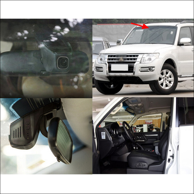 For Mitsubish PAJERO Car wifi DVR Driving Video Recorder Hidden installation Novatek 96655 FHD 1080P car black box Dash Cam