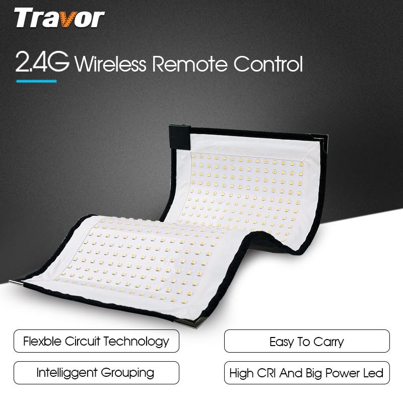 Travor Flexible led video light Bi-Color FL-3060A tamaño 30 * 60CM - Cámara y foto - foto 4