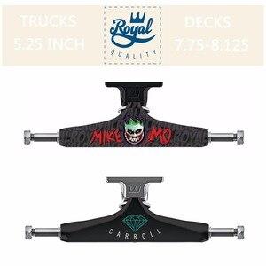 """Image 5 - ロイヤル 2 個黒スケートボードトラック 5.25 """"ミドル中空トラックスケートボードブリッジスケートデッキアルミスケートボードブラケット"""