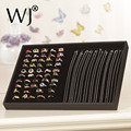 Wholesale Portable Ring & Necklace Display Tray Jewelry Holder 35*24*3cm Rings Colar Colliers Multi-functional Storage Organizer