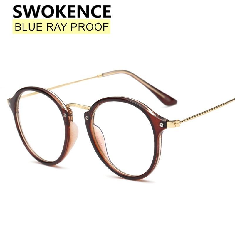SWOKENCE-gafas protectoras a prueba de luz azul para hombre y mujer, anteojos elegantes antiradiación sin dioptrías, F192