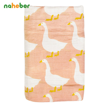 Baby Muslin Swaddle Blanket 100% Organic Cotton Envelope for Newborns 120*120cm Bouble Layer Gauze Infant Linens Hold Wraps