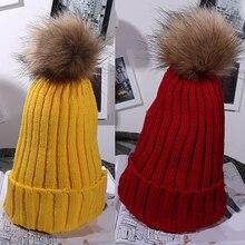 Новое Поступление Женщины Моды Зима Теплая Симпатичные Повседневная Нечеткие Бал Шапочка Вязаная Шапка Крючком Hat