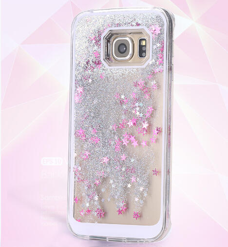 pretty nice 817ab 32097 US $3.29 |S6 edge Plus Case Glitter Liquid Quicksand Waterfall Cases For  Samsung Galaxy S6 Edge Plus G9280 (5.7 Inch) Funda Hard Phone-in Fitted  Cases ...