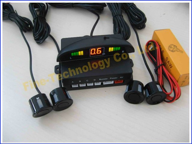 12V brand new high quality ultrasonic waterproof  car reverse sensor wired LED buzzer alart parking sensor system FT 808