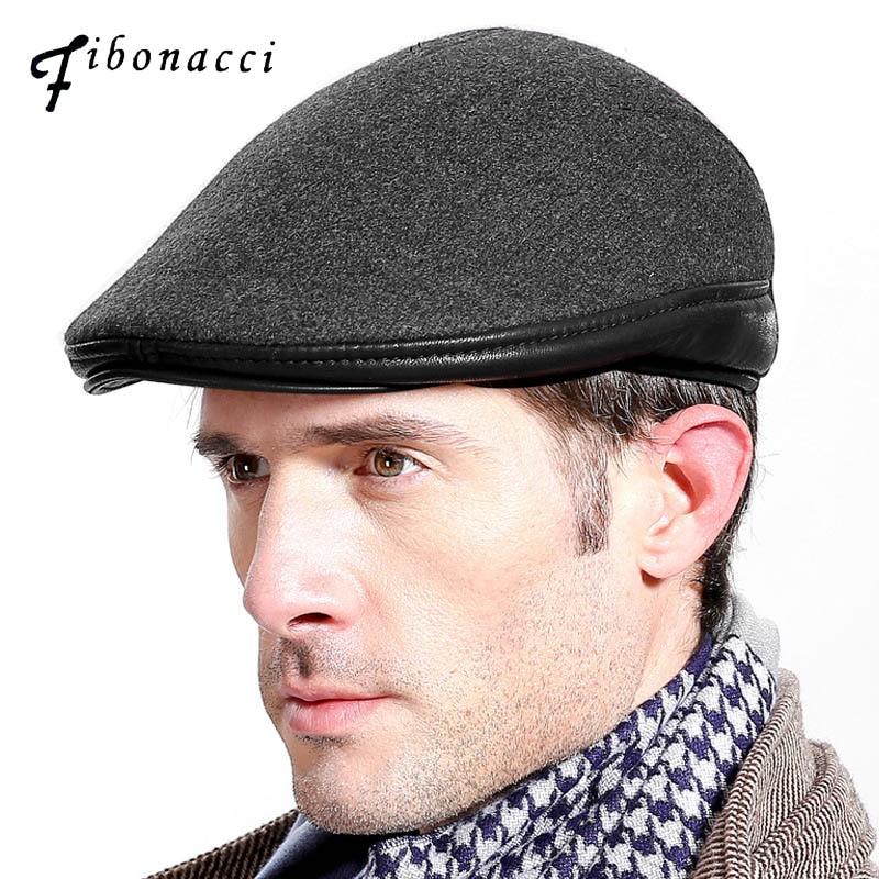 Fibonacci High Quality Flat Cap Vintage Cabbie Hat Gatsby Ivy Cap Irish Hunting Newsboy Cap
