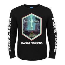Bloodhoof Imagine Dragons Wortels Alternatieve Rock Indie Pop lange Mouw katoen O hals T shirt Aziatische Grootte