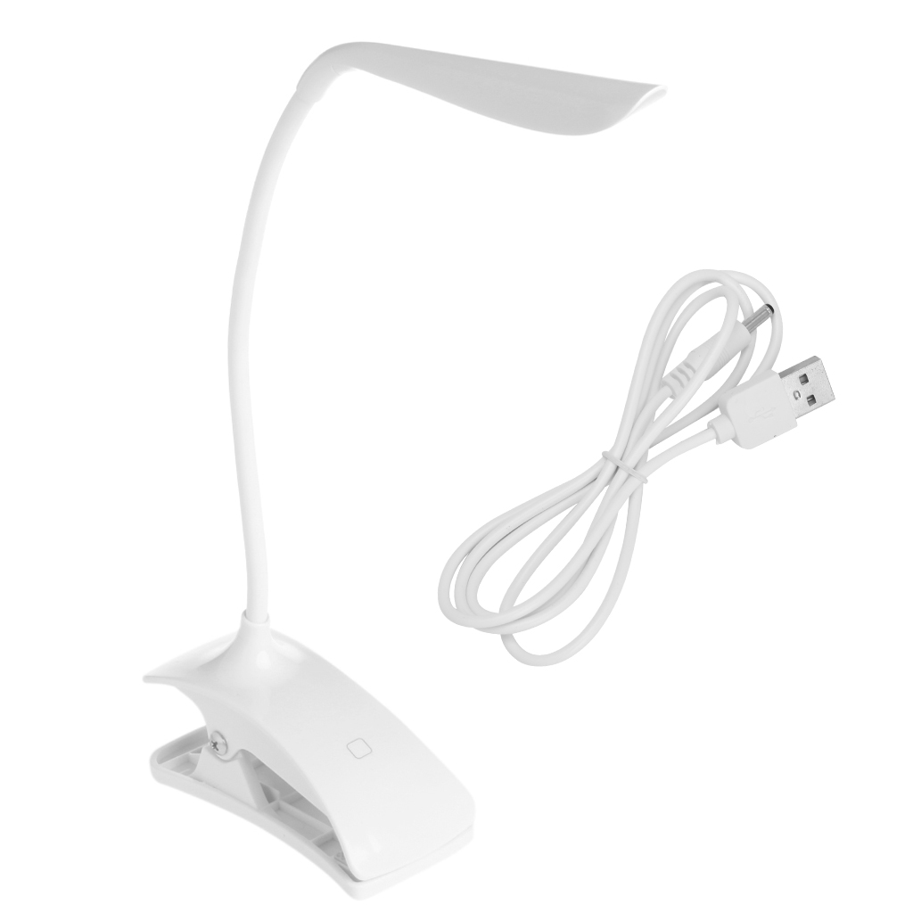 Flexible LED Reading Light Rechargeable Clip-on Bed Table Desk Lamp Study BesideFlexible LED Reading Light Rechargeable Clip-on Bed Table Desk Lamp Study Beside