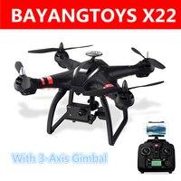 Bayangtoys X22 RC Quadcopter дроны безщеточный gps 3 оси с Wi Fi FPV hd камера 1080P Headless режим Радиоуправляемый Дрон игрушки