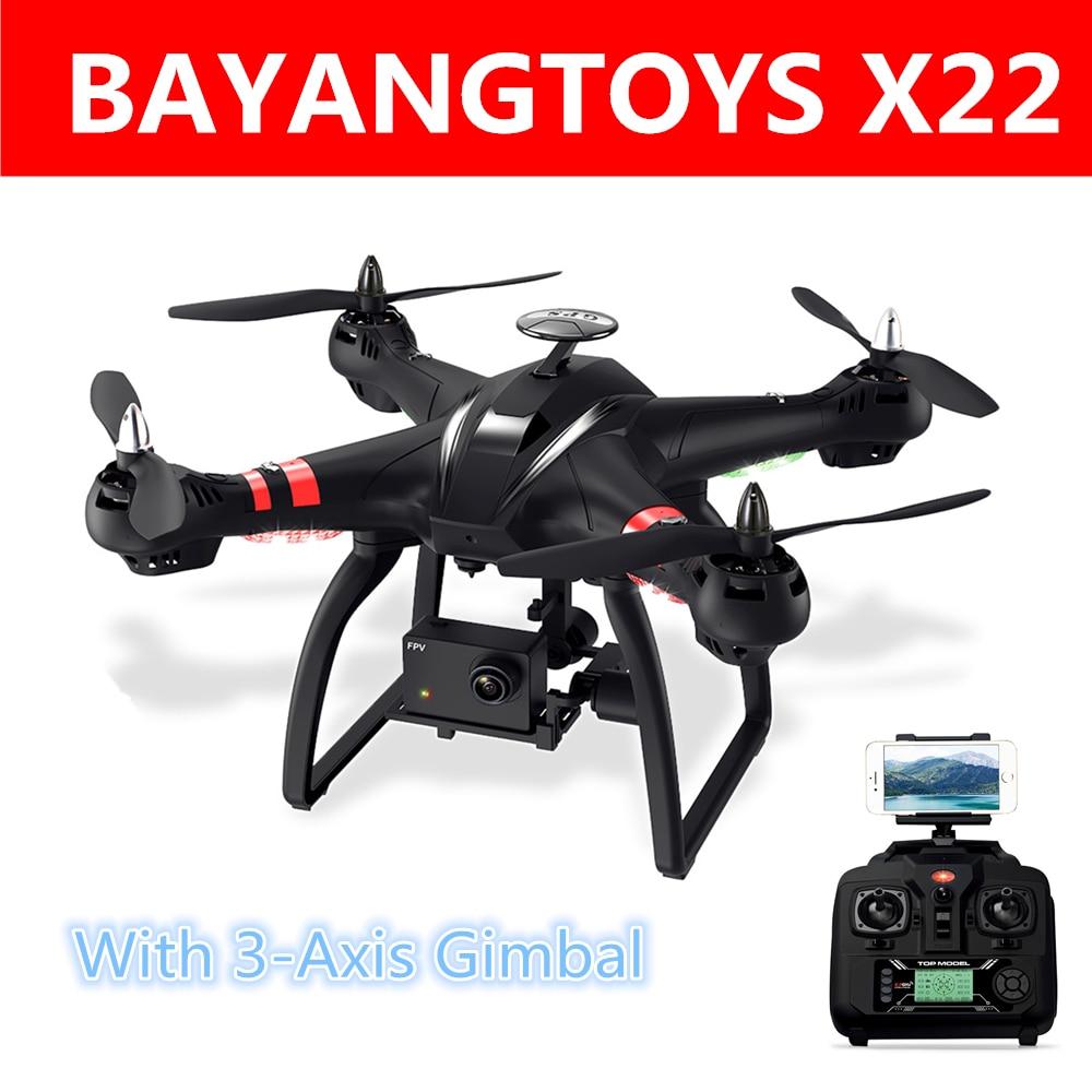 Bayangtoys X22 RC Quadcopter дроны безщеточный gps 3 оси с Wi-Fi FPV hd камера 1080P Headless режим Радиоуправляемый Дрон игрушки