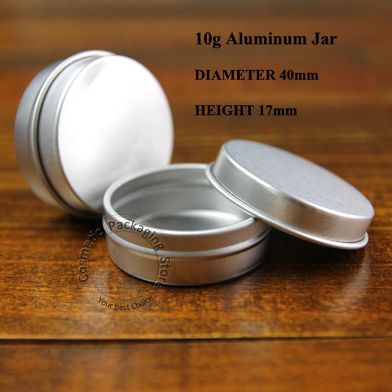 100pcs lot 10g Empty Aluminium Makeup Containers 10ml Mini Jars For Cream Ointment Hand Cream Box