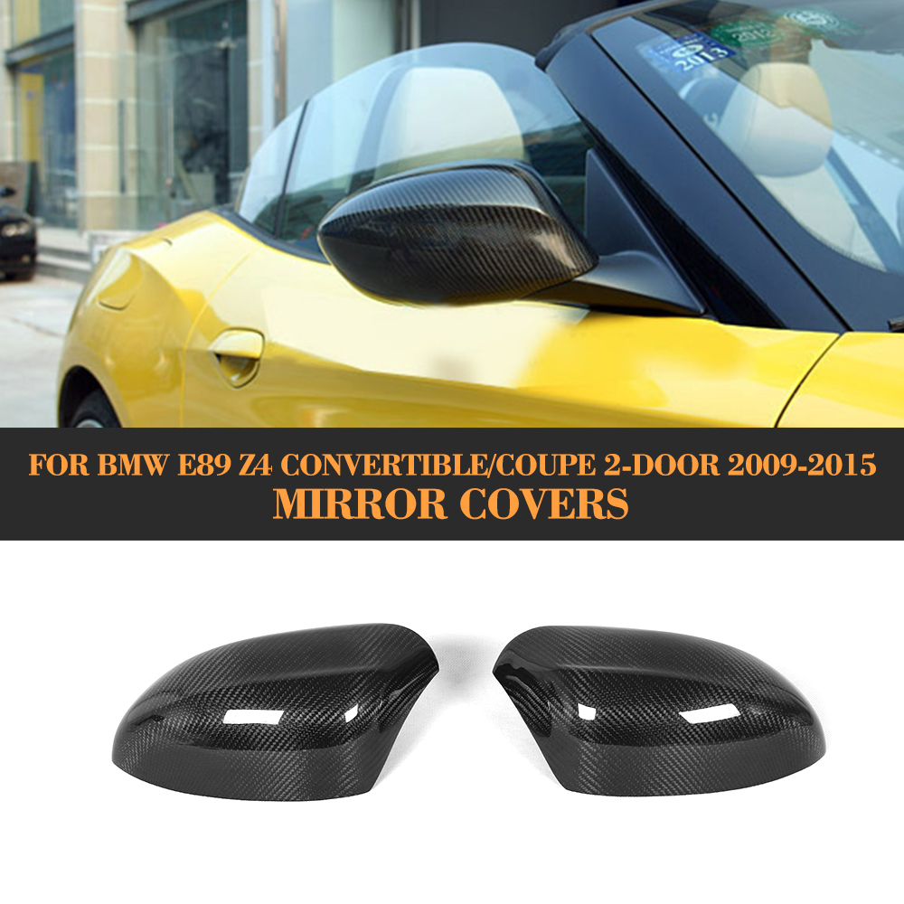 Bmw Z4 Review 2012: Carbon Fiber Add On Rear Side Mirror Cover Caps For BMW