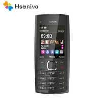 Original Unlocked Nokia X2-02 Single Core Symbian OS Bluetooth FM Radio Dual SIM 1020mAh Black and Red Refurbished Free shipping