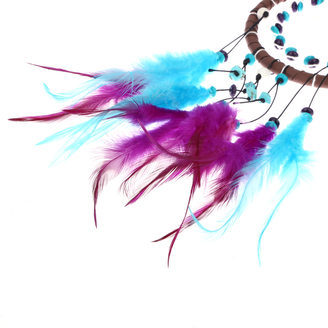 Blue & Purple Handmade Feather Car Dream Cather