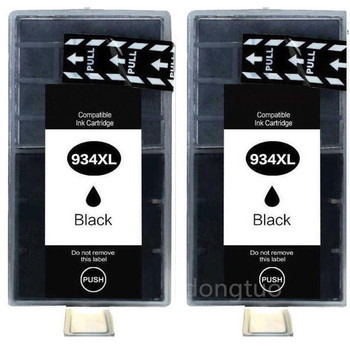 2 x Black Compatible Ink Cartridge for 934XL hp934 935XL for Officejet pro 6230 6830 6835 6812 6815 6820 printer with chip image