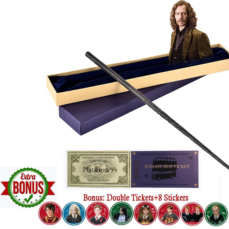 New Arrive Metal Iron Core Sirius Black Wand Harry Magic Wand Hogwart Train Ticket  Knight Bus Ticket 8pcs Tickets