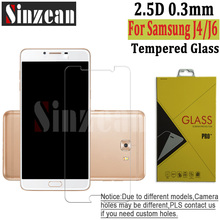 Sinzean 100pcs New 2018 For Samsung J4/J4 Plus Clear Tempered Glass for Galaxy J6/J6 Prime Screen Protector Film 2.5D 9H