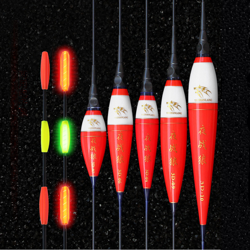 2pcs/lot Fishing Float Night Light Luminous Floats For Fishing Bobber Nana+CR425 Battery Fishing Buoy Accessories Equipment-in Fishing Float from Sports & Entertainment