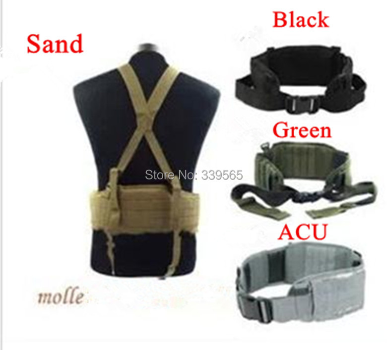 Modular Rig Belt Tactical MOLLE Belt Military cummerbund Equipment for airsoft paintball military Games