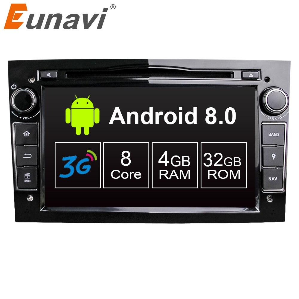 Eunavi Octa 8 Core Android 8.0 1024*600 HD Car DVD Player For Opel Astra Vectra Antara Zafira Corsa GPS Navi Radio Touch screen eunavi new 2 din car dvd for opel astra vectra corsa meriva zafira with gps navi bluetooth radio rds 3g usb sd canbus map gift