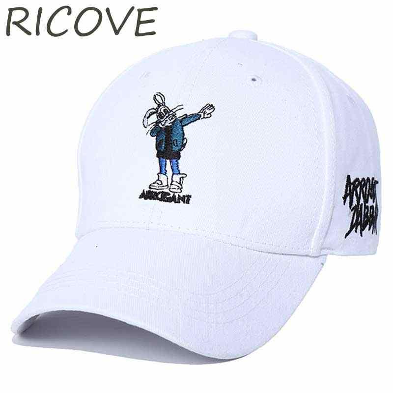 7df13b8b255 Bugs Bunny Dad Hat Trucker Caps Men Streetwear Black Baseball Cap Summer  Embroidery Snapback Hip Hop
