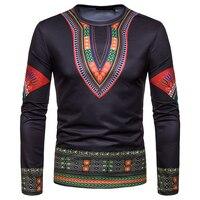 2019 African Fashion Men's Costume Long Sleeve Print Shirt Kenya Nigeria South African Traditional Teenager Cloth Free Shipping