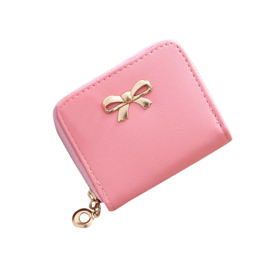 цена на woman wallet zipper PU Bow Coin Purse Fashion Princess Chain Coin Bag Children Ladylike Korean Style New Bag Square Small Bag