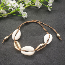 2019 Boho Natural Cowrie Shell Bracelet for Women Gold Color Handmade Summer Fashion Beach Jewelry Wholesale