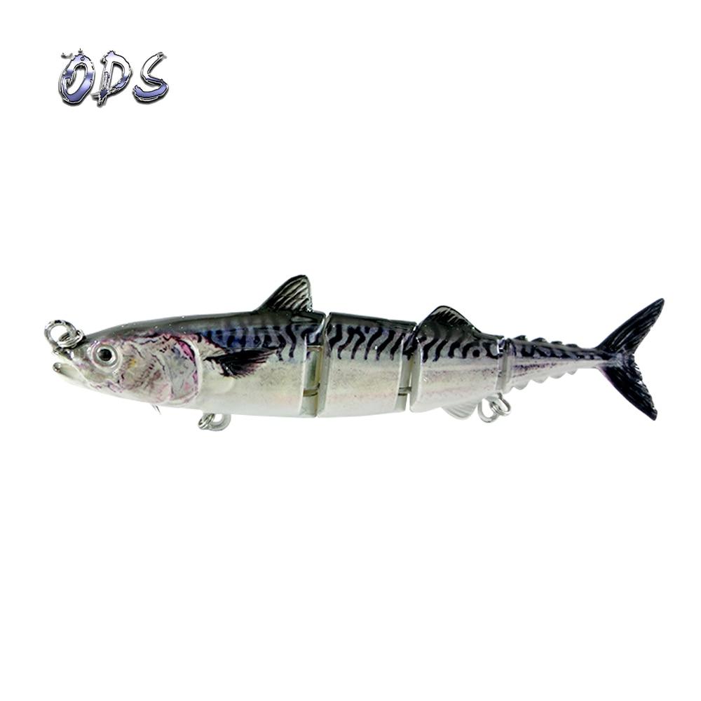ODS 4 секции, плавающая приманка для тунца, 15 см, 31 г, бесплатный образец, рыболовные приманки, жесткие шарнирные приманки для ловли окуня в соленой и пресной воде - Цвет: blue color