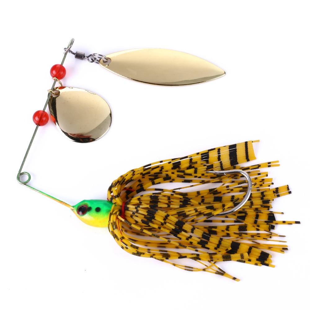 HENGJIA 1pcs Spinner Bait 18G Metal Lure Hard Fishing Lure Spinner Lure Spinnerbait Pike Swivel Fish Tackle Wobbler