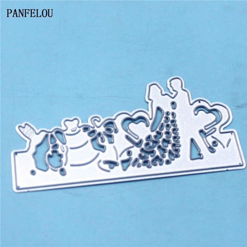 PANFELOU Metal craft Lovers wedding dress paper die cutting dies ...