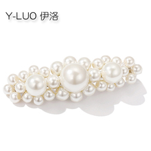 Women head wear pearl hair clip flower barrettes small grip cute accessories for women