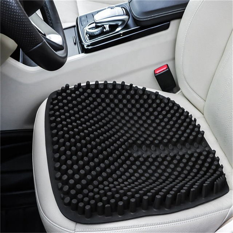 16.5 Inch Silica Gel Car Seat Cushion Non Slip Chair Pad Office Auto Home Breathable Silicone Massage Seat Cover image