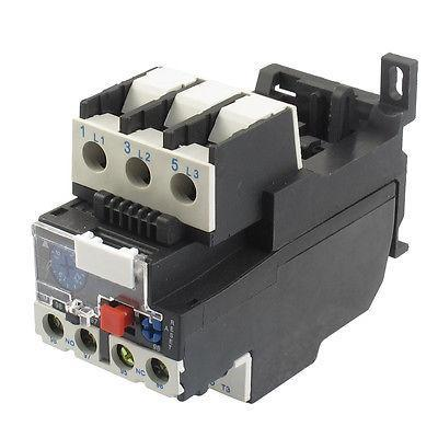 2.5A Rated Current 1 NO 1 NC Thermal Overload Relay Gkirg 3 pole ac 0 63a 1a electric thermal overload relay 1 no 1 nc