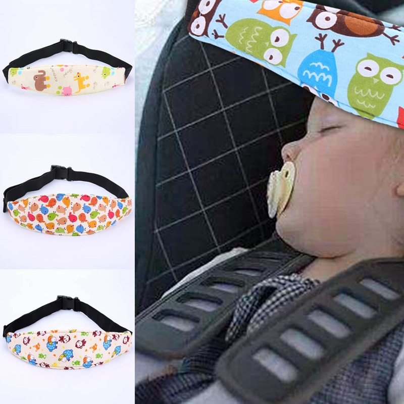 купить Baby Car Safety Belt Auto Seat Belts Sleep Aid Head Support for Kids Toddler Car Seat Travel Sleep Aid Head Strap по цене 85 рублей