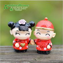 2018 Fashion 3CmX2Cm Traditional Chinese Bride Groom Small Decorative Article Diy Microlandschaft Home Decoration Accessories