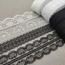 Commercio all'ingrosso 10 Yards/Lot Bianco Del Merletto Del Nastro Del Nastro di Qualità Lace Trim FAI DA TE Ricamato Del Merletto Per Il Cucito Tessuto Africano Del Merletto accessori(China)
