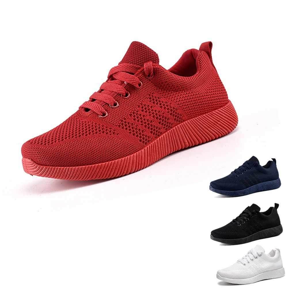 19b72b26a54b Мужские дышащие Сникеры Мужская обувь для взрослых красный черный серый  высокое качество Удобная нескользящая Мягкая сетка