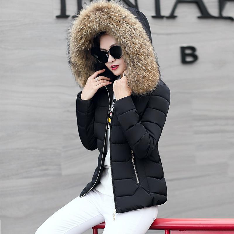 Aliexpress.com : Buy JOLINTSAI Fake Fur Collar Women Short Parka ...