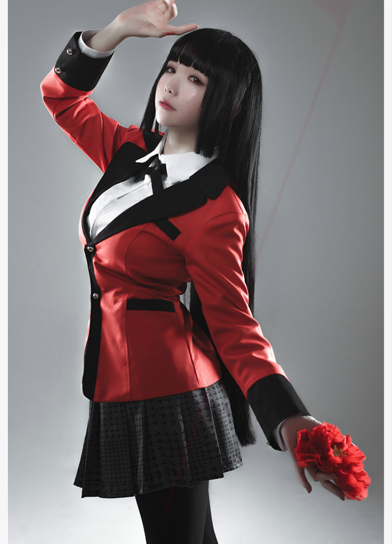New Arrival Anime Kakegurui Jabami Yumeko Cosplay Costume Japanese High School Uniform Costume Suit Top Shirt Socks Tie Skirt