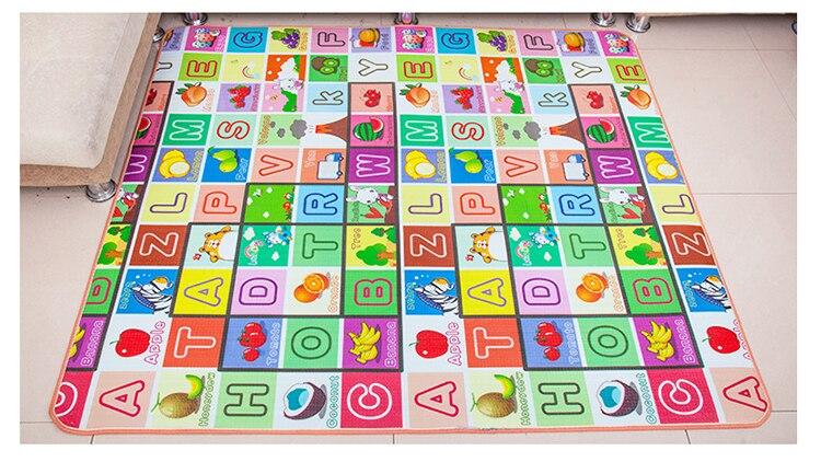 HTB1Gq re.GF3KVjSZFmq6zqPXXai Infant Shining 200*180*1.5CM Baby Play Mat Thickening Eco-friendly EPE Children Playmat Cartoon Non-slip Carpet Living Room Mat