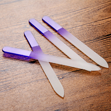 Qt Nails Files Durable Crystal Glass 4pcs File
