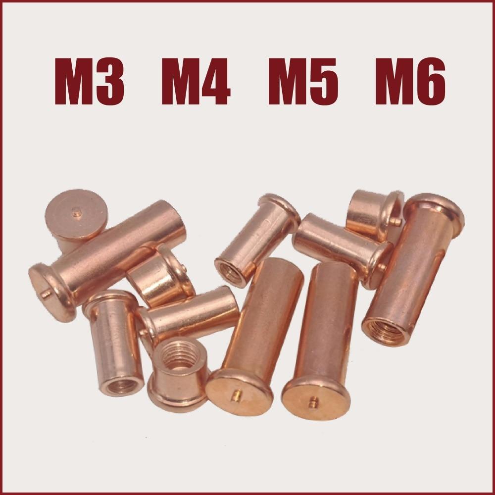 screws spot welding copper plated welding screw M3 M4 M5 M6 stud welding  bolt capacitor discharge