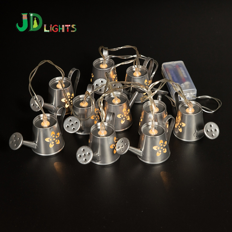 Silver Metallic Water Can Fairy Lights String Light