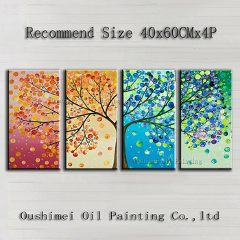 Cheap Price High Quality Modern Abstract Tree Oil Painting On Canvas Beautiful Tree Decorative Painting For Living Room