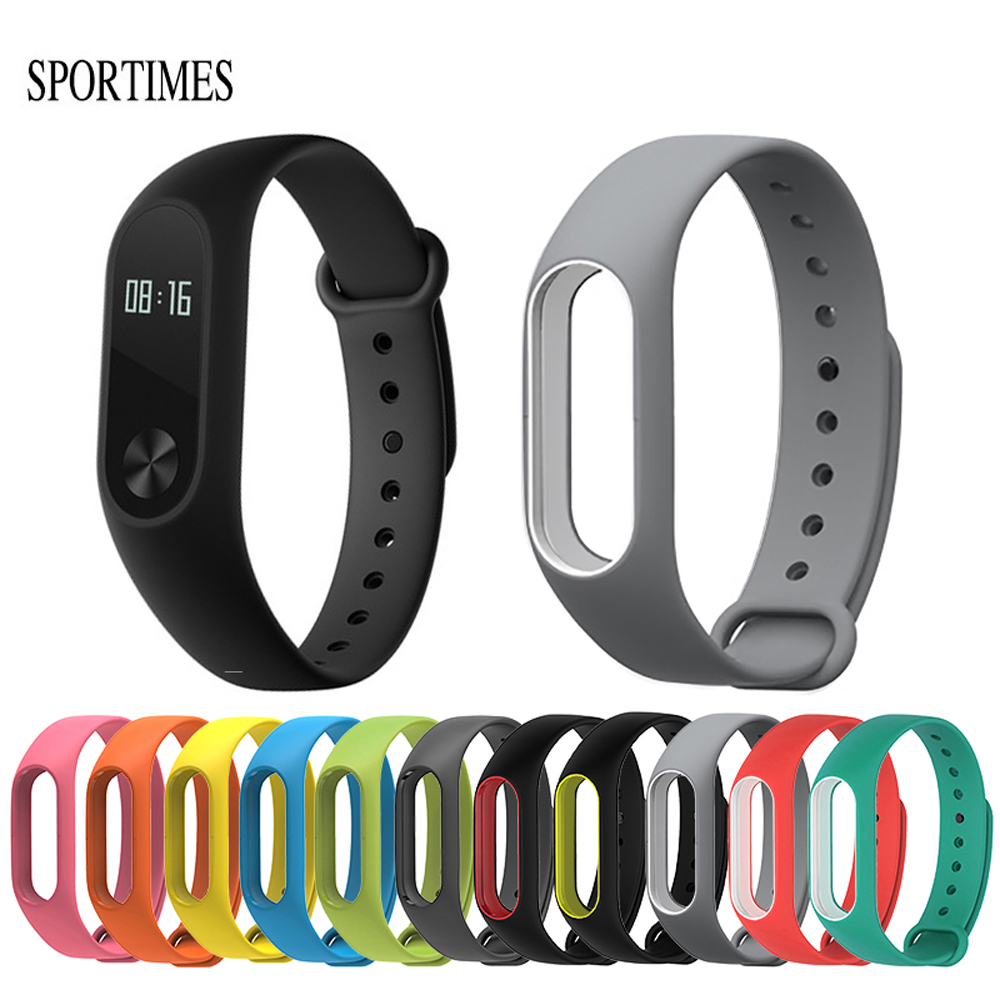 где купить SPORTIMES Colorful Silicone Anti-fading Wrist Strap Replacement Watchband for Original Miband 2 Xiaomi Mi band 2 Wristbands по лучшей цене