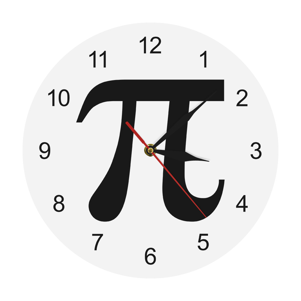 3D Pi Symbol Geek Pi 3.14 Silhouette Wall Clock Mathematical Sign Pi 3.14 Life of Pi Minimalist Math Wall Clock Math Chic Gift