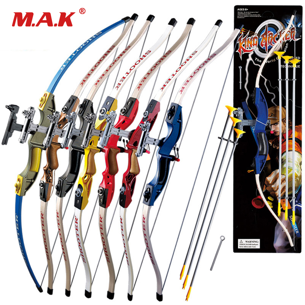 7 Color Send Sucker Recurve Bows For Children Safe Outdoor Sports Bow With 3pcs Scuker Arrows Shooting Game Hunting Pract